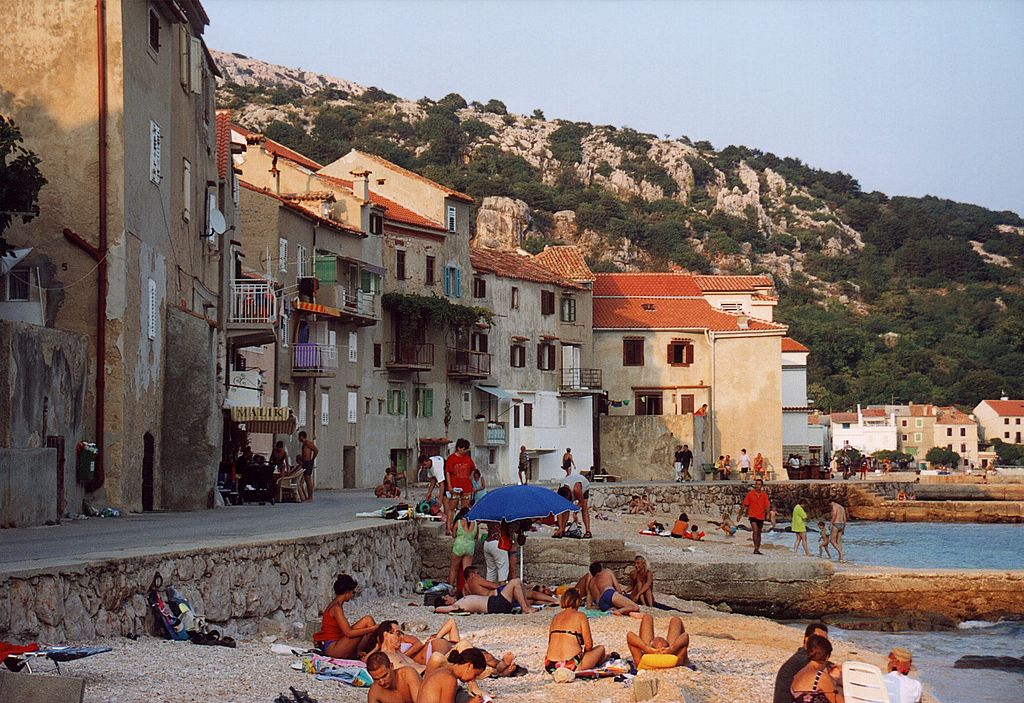 Lounging on the coast of Croatia is one of the more relaxing experiences in the Mediterranean ... photo by unknown CC user on wikimedia (source URL: http://commons.wikimedia.org/wiki/File:Croatia_Baska_coast.jpg)